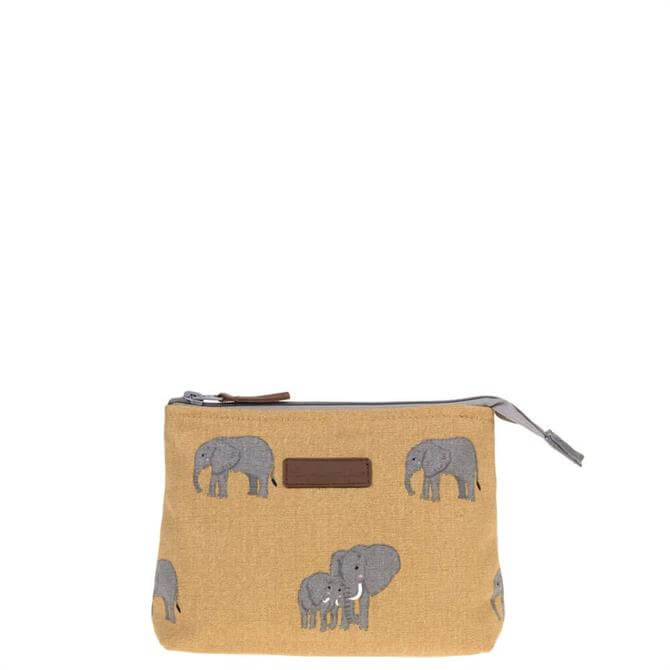 Sophie Allport Elephant Canvas Makeup Bag