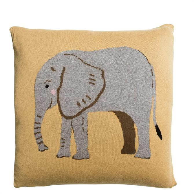 Sophie Allport Elephant Knitted Cushion