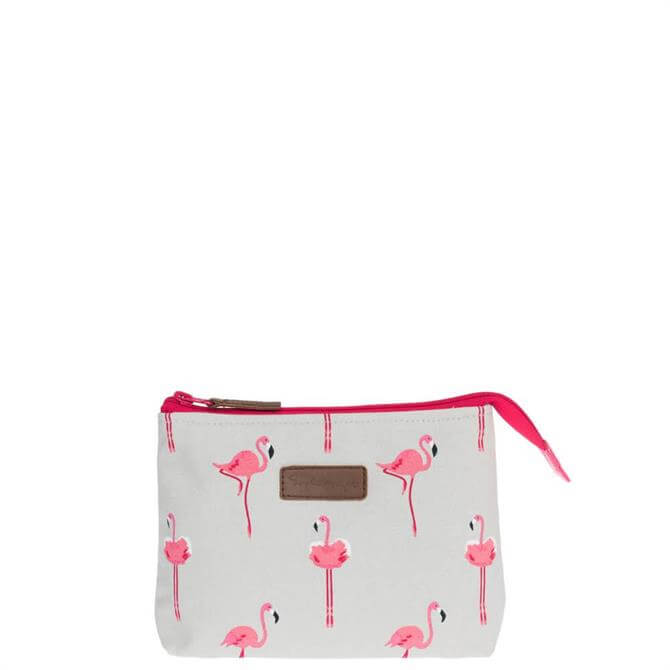 Sophie Allport Flamingo Canvas Makeup Bag