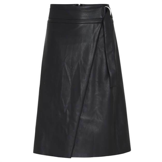 Soyaconcept Beckie Faux Leather Wrap Skirt