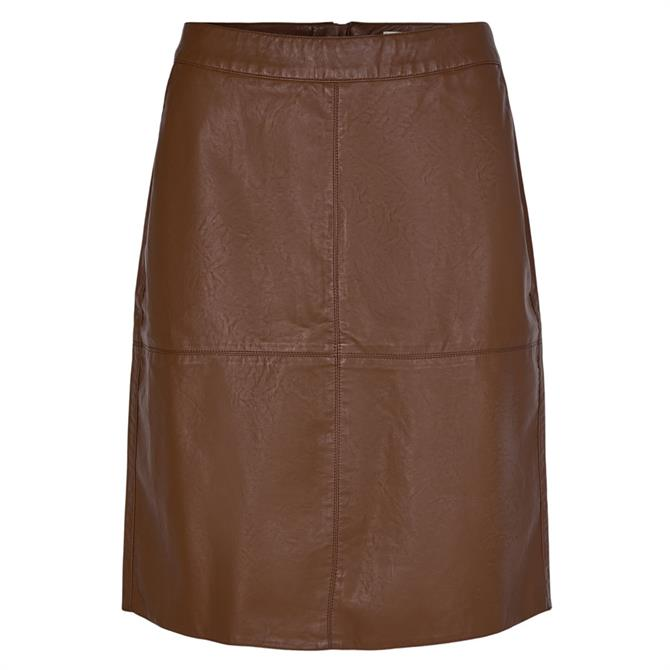 Soyaconcept Gunilla Faux Leather Skirt