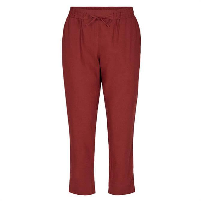 Soyaconcept Ina Tie Waist Casual Linen Blend Trouser
