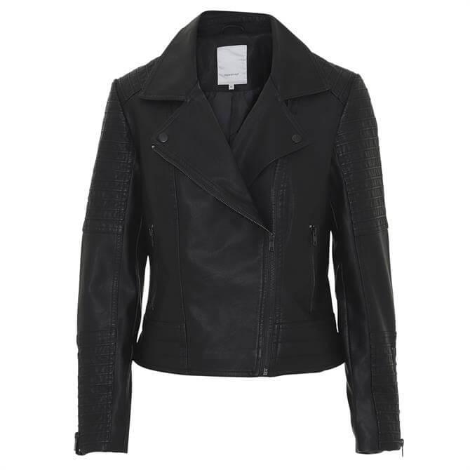 Soyaconcept Amalie 3 Faux Leather Biker Jacket