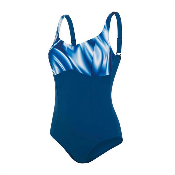 Speedo ContourLustre Printed Swimsuit