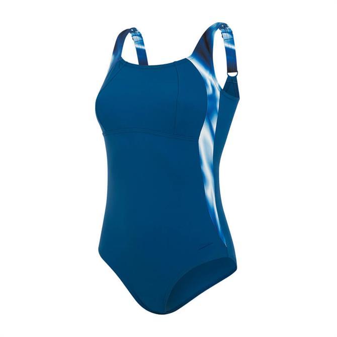 Speedo LunaLustre Printed Swimsuit