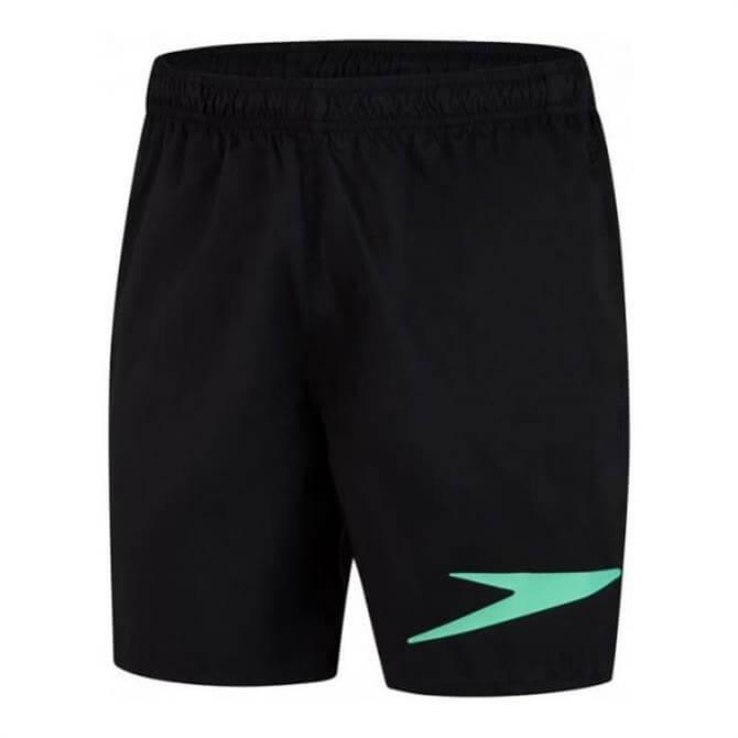 "Speedo Sport Logo 16"" Watershort - Black / Green"