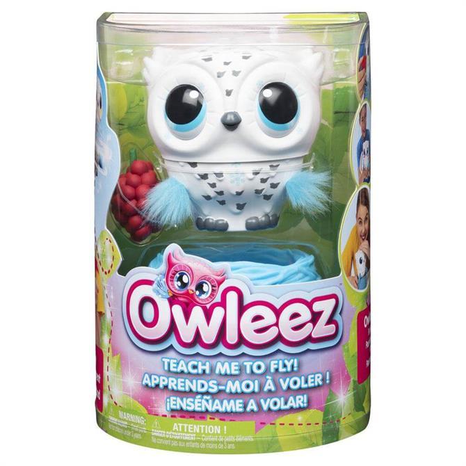 Owleez Interactive White Flying Baby Owl