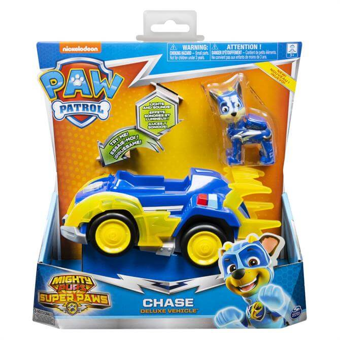 Paw Patrol Mighty Pups Super Paws Deluxe Vehicle Assortment