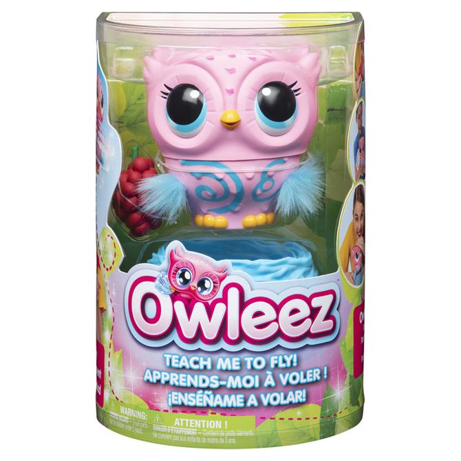 Owleez Interactive Pink Flying Baby Owl