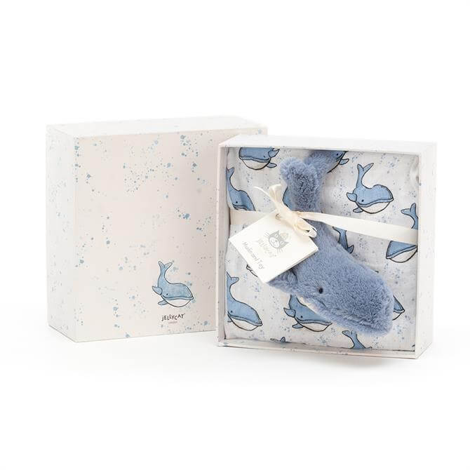 Jellycat Wilbur Whale Baby Gift Set