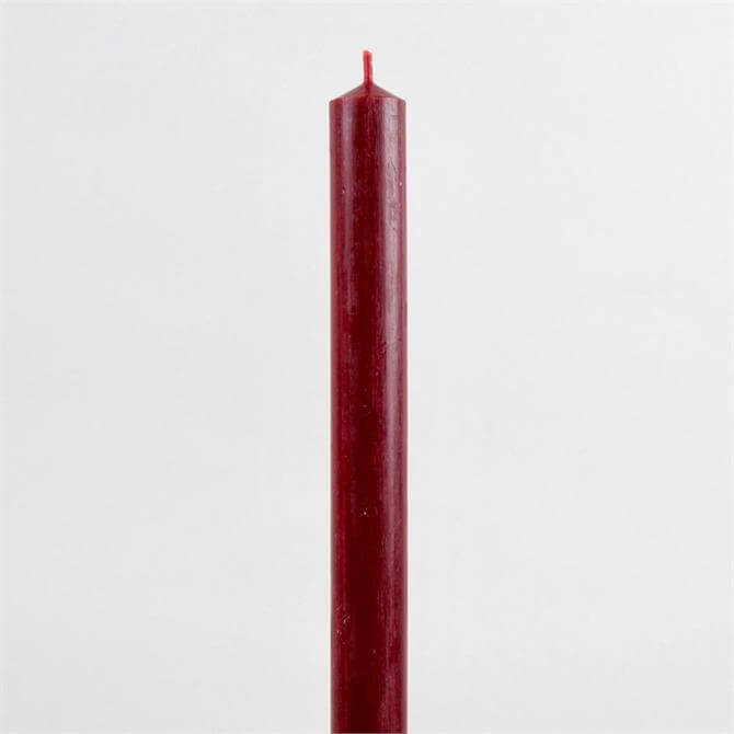 St Eval Dinner Candle Red