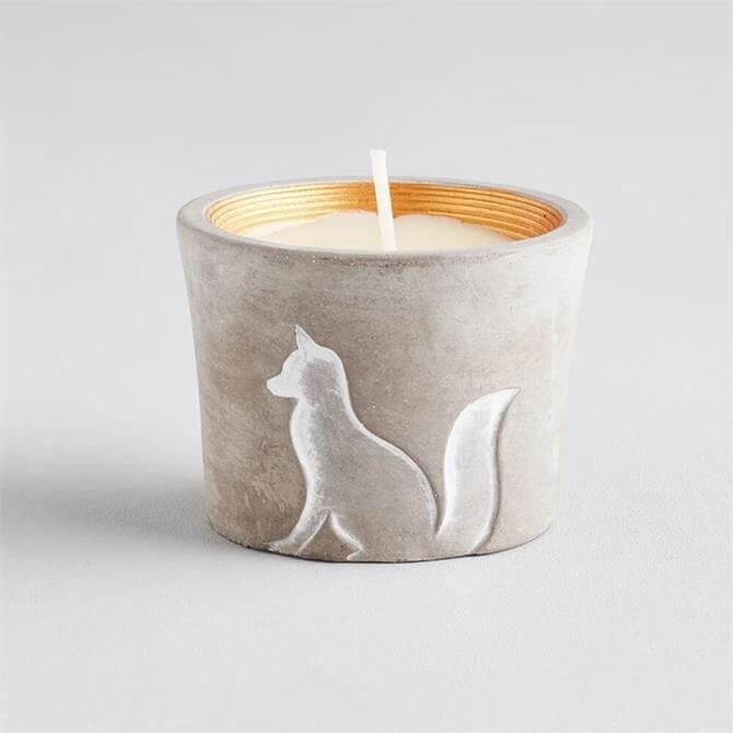 St Eval Christmas Fox Candle