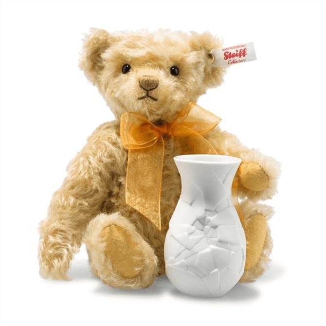 Steiff Sunflower Teddy with Vase