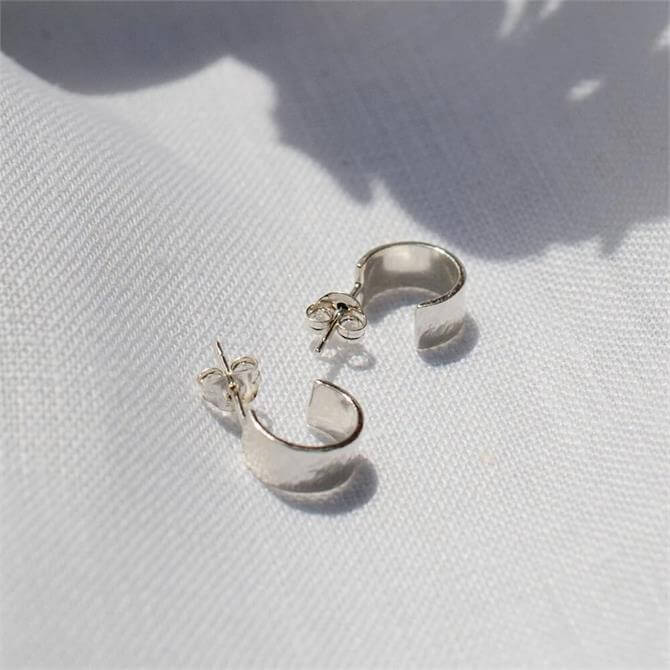 Studio Adorn Mini Hammered Huggy Hoop Earrings