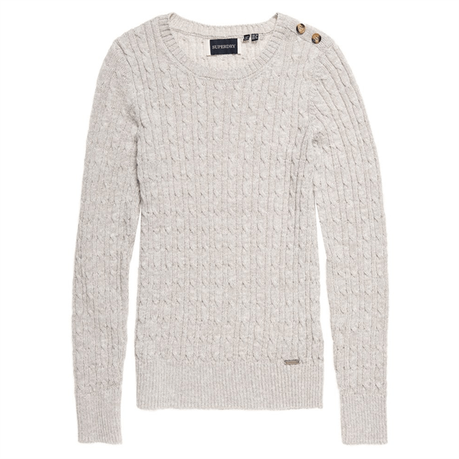Superdry Croyde Cable Knit Crew Neck Jumper