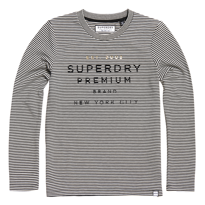 Superdry Dunne Stripe Graphic Top