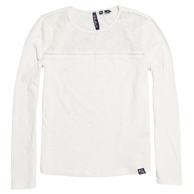 Superdry Embroidered Mesh Long Sleeve Top