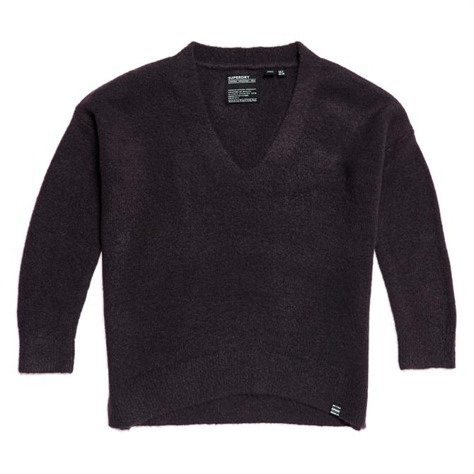 Superdry Isabella Slouch V-Neck Knitted Jumper