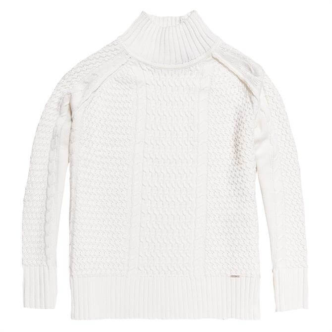 Superdry Pheobe Cable Knit High Neck Jumper