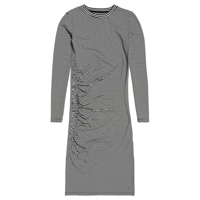 Superdry Rouched Midi Long Sleeved Dress