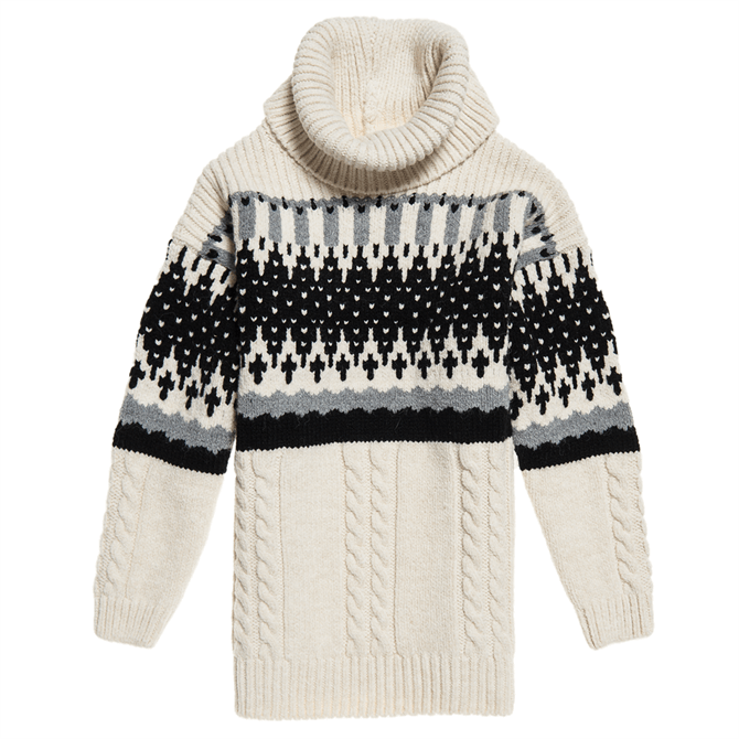 Superdry Gia Intarsia Slouch Knit Jumper