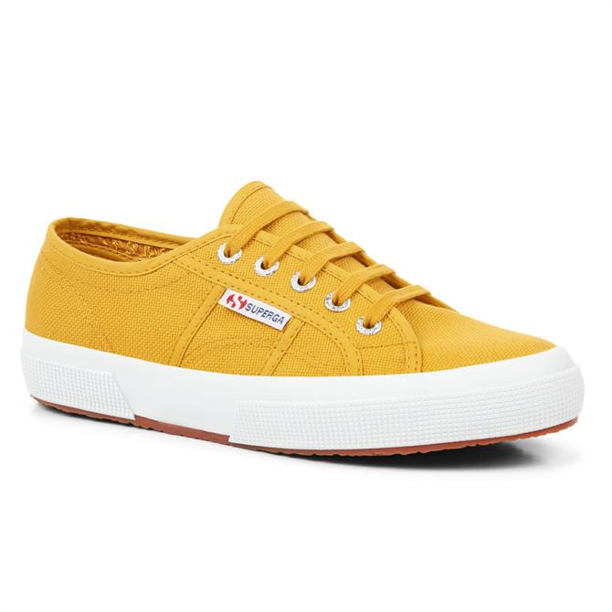 Superga 2750 Cotu Classic Yellow Golden Trainers