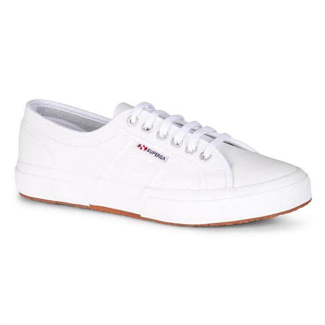 Superga 2750 Efglu White Leather Trainers
