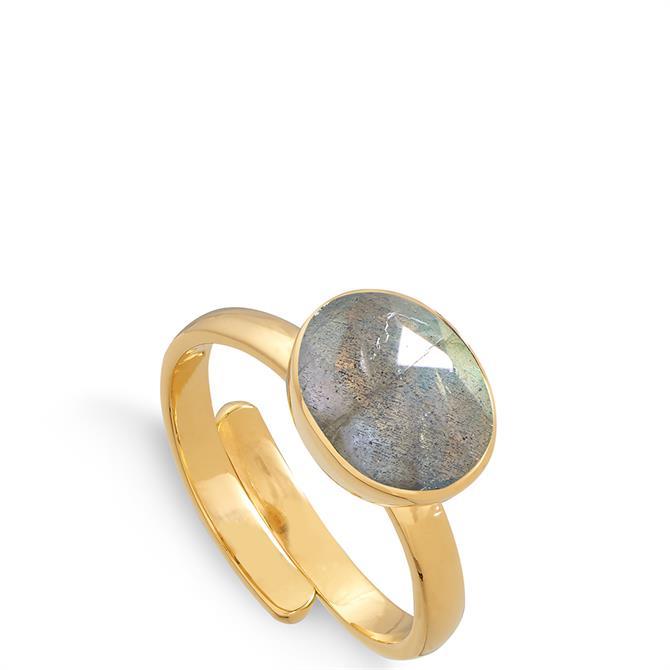 SVP Atomic Midi 18 Carat Gold Vermeil Adjustable Ring