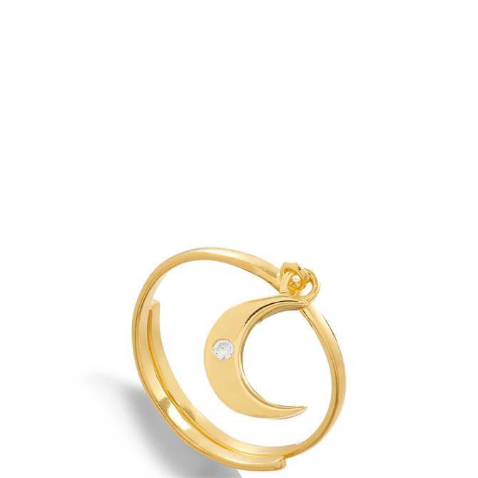 SVP Supersonic 18 Carat Gold Adjustable Moon Charm Ring