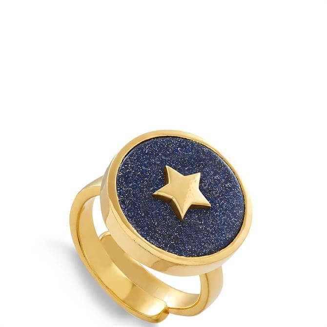 SVP Stellar 18 Carat Gold Vermeil Star Adjustable Ring