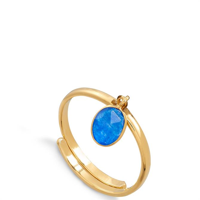 SVP Rio 18 Carat Gold Vermeil Adjustable Charm Ring