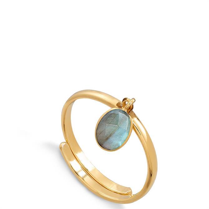 SVP Rio 18 Carat Gold Vermeil Adjustable Charm Ring