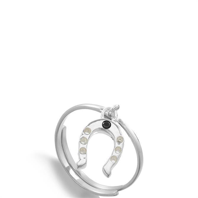 SVP Supersonic Sterling Silver Adjustable Horseshoe Charm Ring