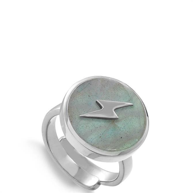 SVP Stellar Sterling Silver Lightening Adjustable Ring