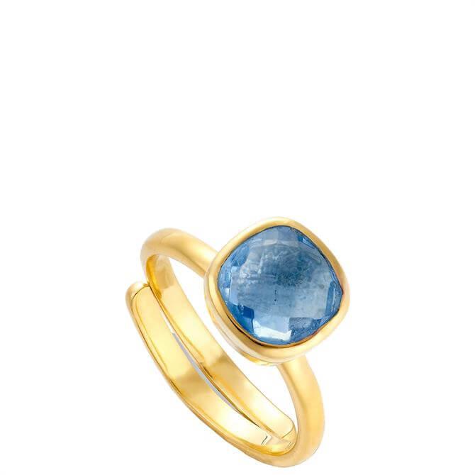 SVP Highway Star Medium Iolite Gold Adjustable Ring