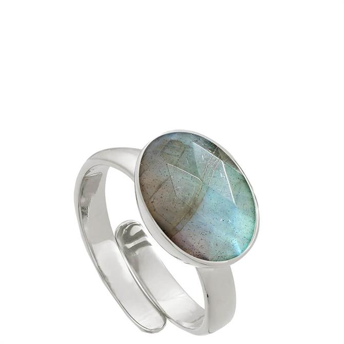 SVP Atomic Maxi Labradorite Silver Adjustable Ring