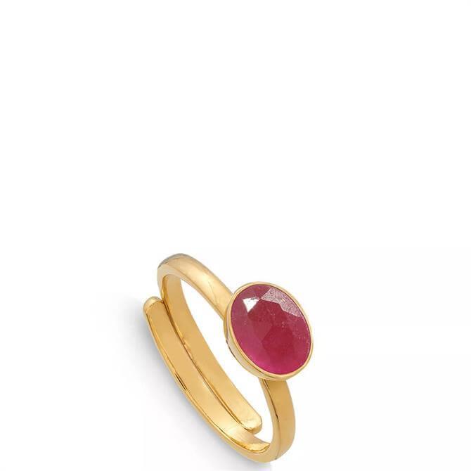 SVP Atomic Mini 18 Carat Gold Vermeil Adjustable Ring