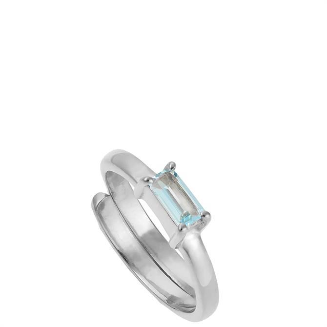 SVP Small Nivarna Sterling Silver Adjustable Ring