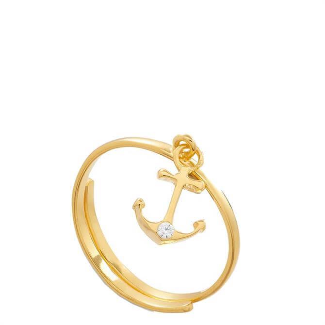SVP Supersonic Medium Anchor Gold Vermeil Adjustable Ring