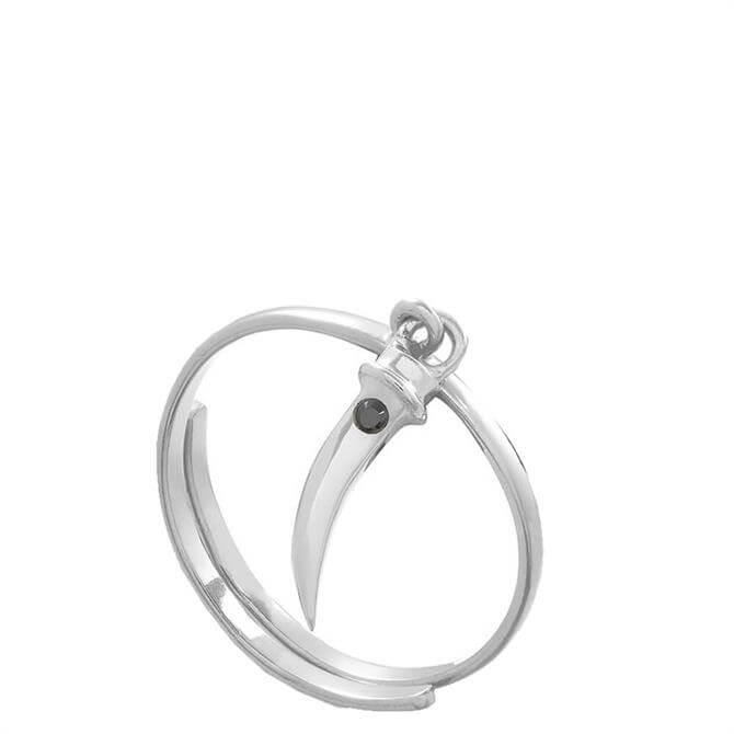 SVP Supersonic Medium Tusk Sterling Silver Adjustable Ring