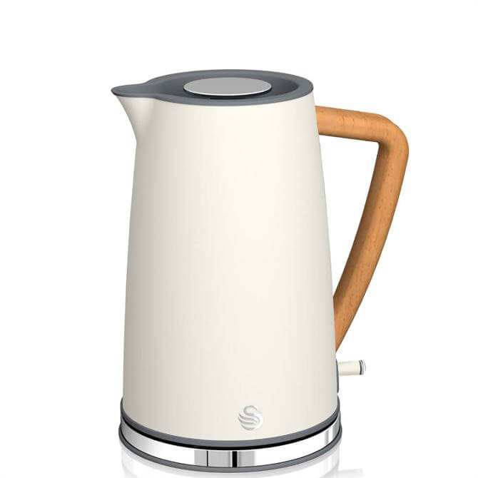 Swan 1.7L Nordic Style Cordless White Kettle