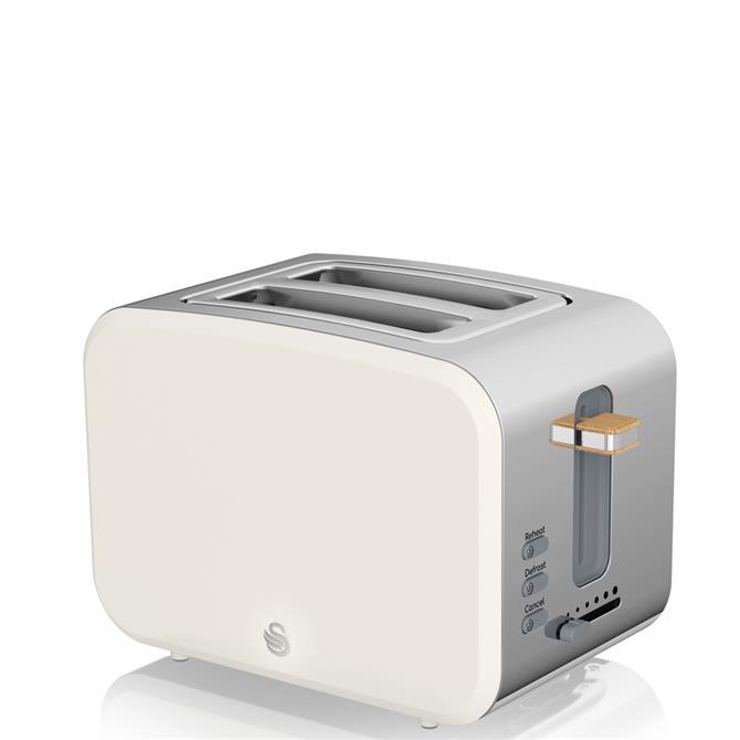 Swan 2 Slice Nordic Style White Toaster
