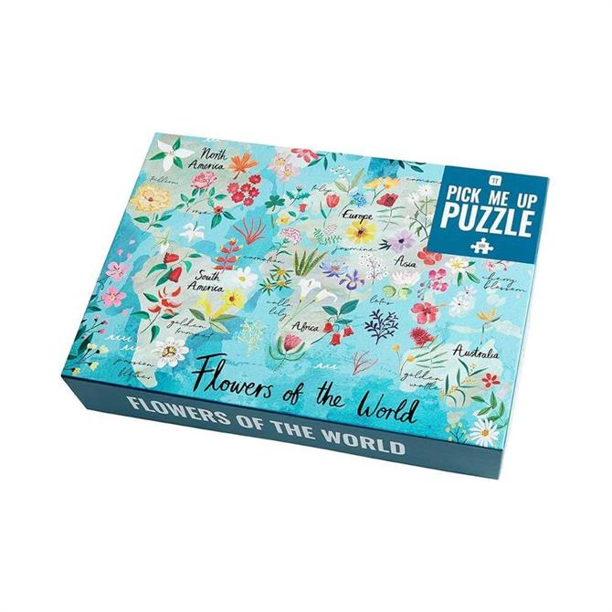 Talking Tables Pick Me Up Flowers of the World 500 Piece Jigsaw Puzzle