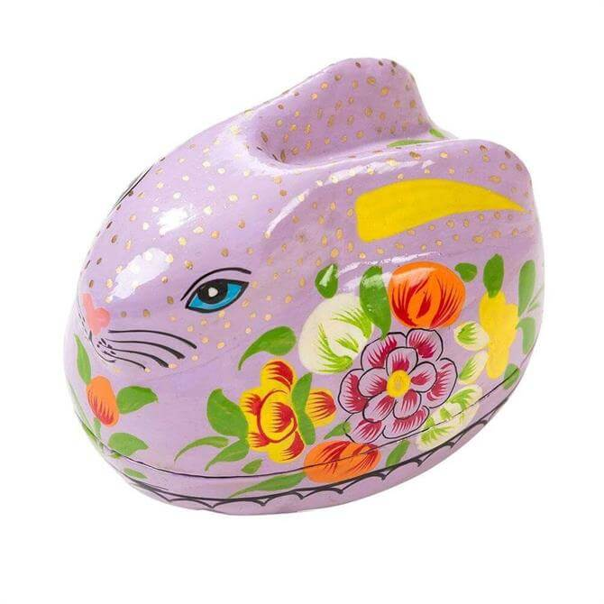 Truly Bunny Hand Painted Rabbit Gift Box Pink