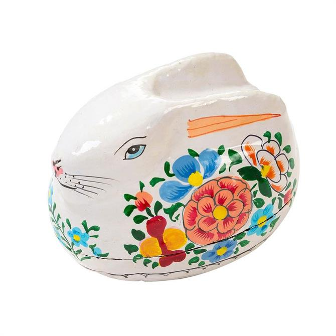 Truly Bunny Hand Painted Rabbit Gift Box White