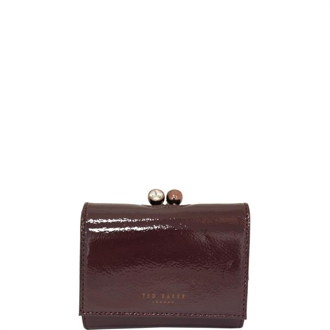 Ted Baker Emeey Deep Purple Patent Leather Mini Bobble Clasp Purse