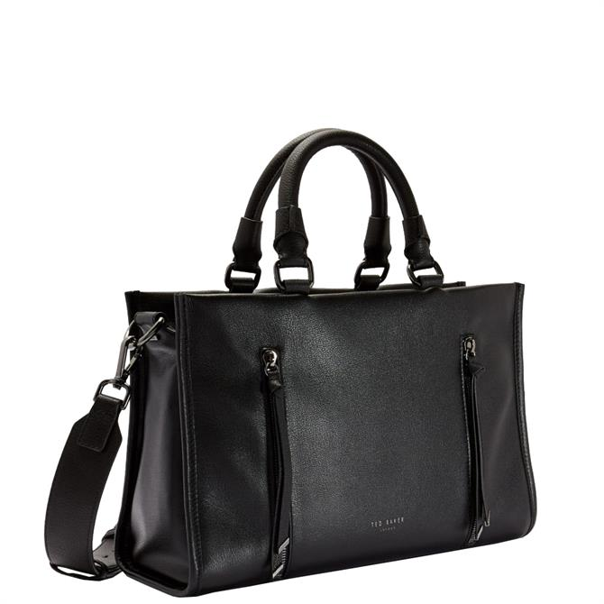 Ted Baker Hanee Black Double Zip Small Tote Bag