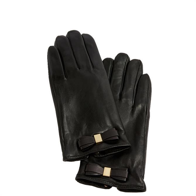 Ted Baker Frannca Black Bow Detail Gloves