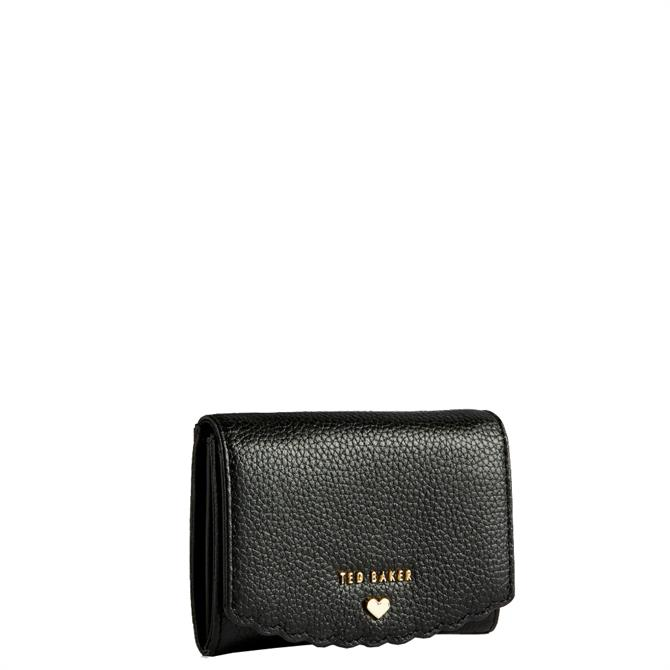 Ted Baker Sabelaa Black Leather Scallop Detail Mini Purse