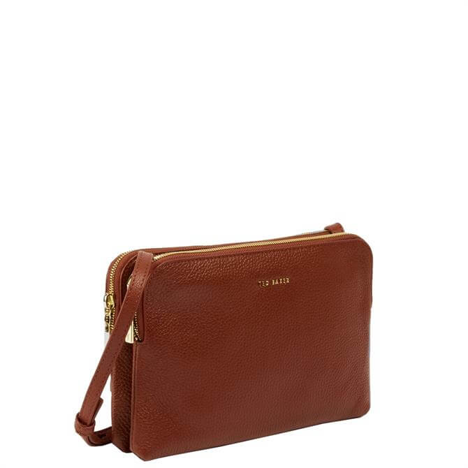 Ted Baker Ciarraa Soft Leather Double Pouch Crossbody Bag